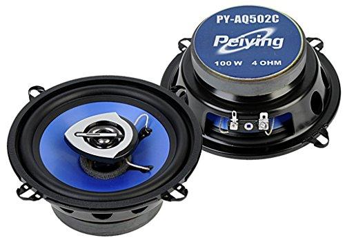Peiying PY-AQ502C - Altavoces para coche (13 cm, 2 unidades, 100 W,...