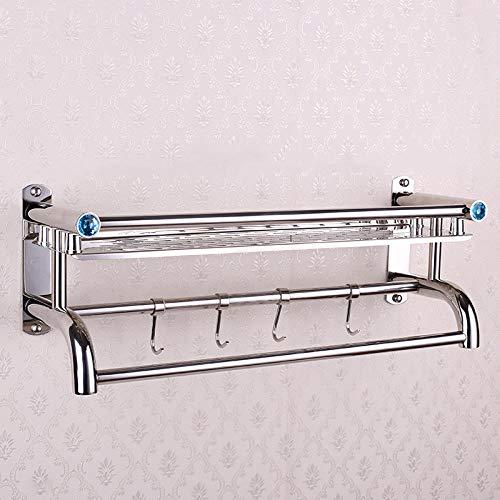 Toallero engrosado de acero inoxidable de una sola capa estante de almacenamiento de inodoro-50cm