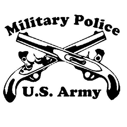 Autoaufkleber Militärpolizei Kreuzpistolen mit Auto Styling Zubehör Motorrad Auto Aufkleber und Abziehbilder 20.3CM * 15.6CM-Schwarz
