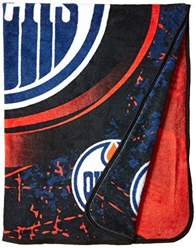 The Northwest Company Officially Licensed NHL Edmonton Oilers Ice Dash Micro Raschel Throw Blanket, 46