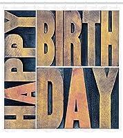 誕生日生地パターンシャワーカーテン生地の装飾