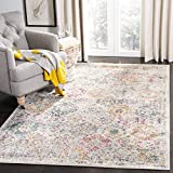 Safavieh Madison Collection MAD611F Bohemian Chic Vintage Distressed Area Rug, 8' x 10', Grey/Gold