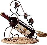 Nuokix Weinregale, Retro-Art-Bronzeweinhalter Maple Leaf Wine Rack-Halter Hübsche Verzierungen Wohnaccessoires Barware