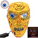 West Bay Halloween Scary Led Mask with Eyeball