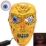 Halloween Scary Led Mask with Eyeball, WEST BAY Eyeball Light up Mask Cosplay for Halloween Festival Party Glowing Dark Masquerade Costume Mask for Men Women Kids
