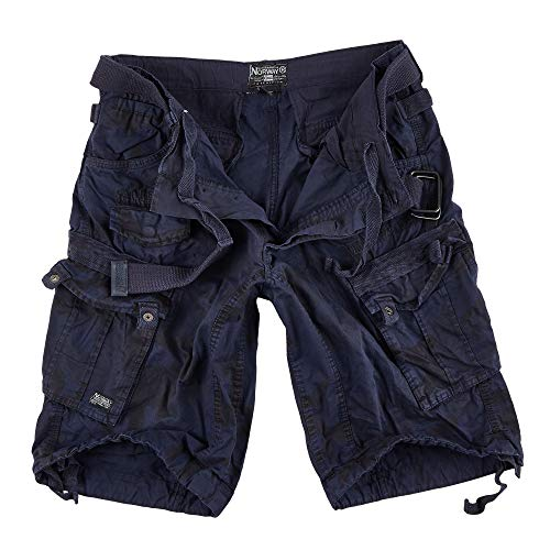 Geographical Norway People - Pantalón corto para hombre azul marino. S