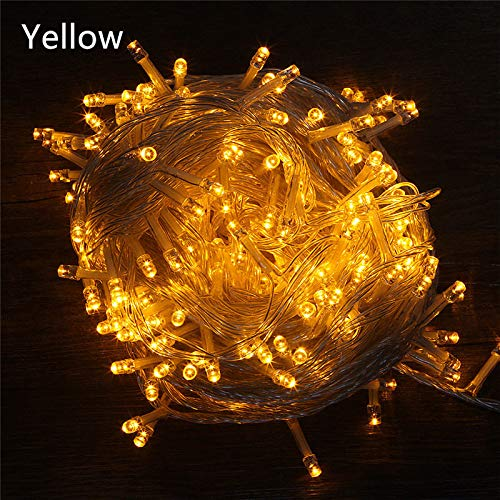 30 m LED string creatief licht terras bruiloft decoratie AC220V waterdichte buitenlamp slinger geel
