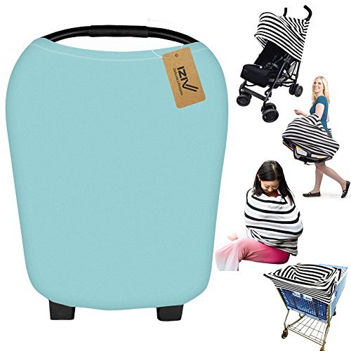 iZiv Ultrasoft 4-en-1 Multi-usages Bébé Housse Elastique Canopy/Housse d'allaitement/Couverture Panier d'achat/Echarpe Durable pour Bébé