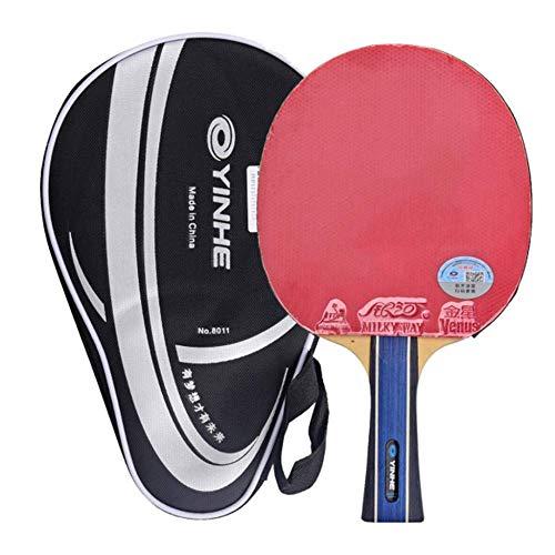 KCGNBQING Pista da Ping Pong Professionale, 5 Strati di Legno 2 Strati di Fibra di Carbonio, Racchetta da Ping Pong, for Intermedio e avanzato/Come Mostrato/Maniglia Corta