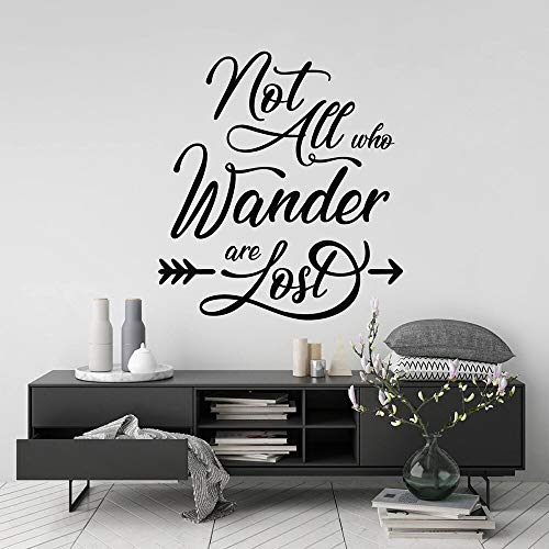 Not all wandering people are lost wall stickers calligraphy lettering vinyl room decoration decal 36X39cm