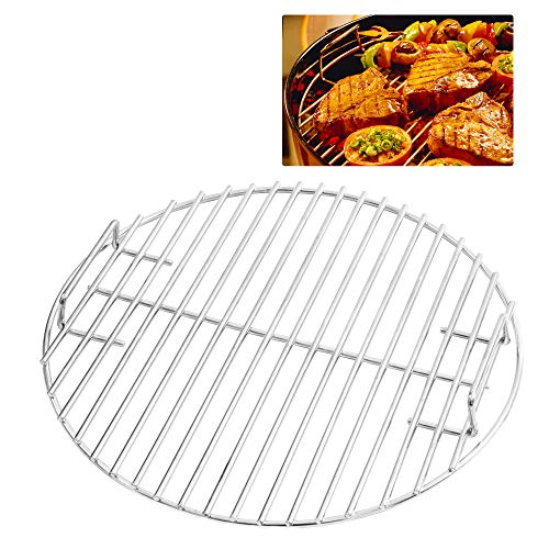 CHARAPID Stainless Steel Grill Grate, Round Cooking Grid for Classic Kamado Grills, Big Green Egg Grill Parts Charcoal Grate Replacement Accessories - 18'