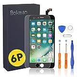 Bokman LCD Pantalla para iPhone 6 Plus, Táctil LCD Reemplazo con Herramientas de Reparación(Negro)