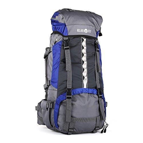 Klarfit Heyerdahl Travel  Backpacker: Mochila de trekking  con funda impermeable  70L