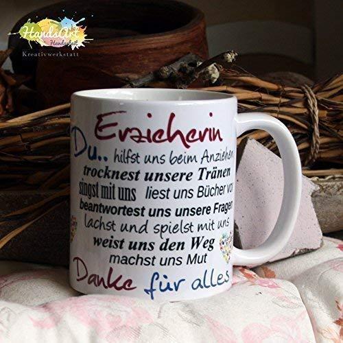 Kaffeebecher ~ Tasse - Erzieherin, Du (WIR) ~ Kindergarten ~ Weihnachten Geschenk