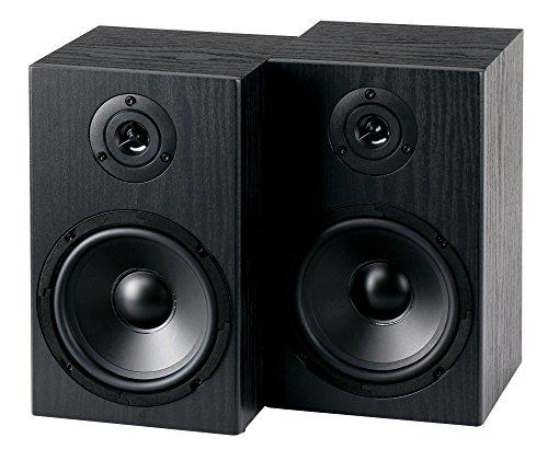 """McGrey BSS-265 BK 6,5\"""" HiFi Regallautsprecher - 1 Paar Boxen - 40 Watt (RMS) - 2-Wege-System - auch für Wandmontage - schwarz"""