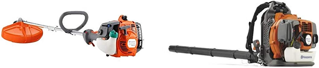 Husqvarna 128LD 17 in. String Trimmer and 350BT 50.2cc Professional Backpack Leaf Blower Combo Pack