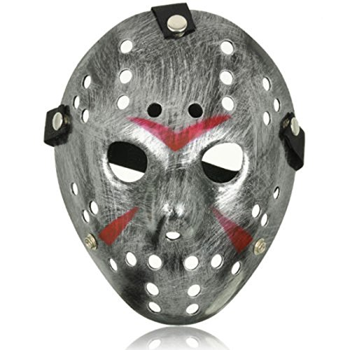 Ultra Argenté Adultes Enfants Masque Hockey Horreur Halloween Festival de Mascarade vs Party Killer Scary Costume Sangle Elastique Freddy Cosplayt Adultes Halloween Hockey Masque Horreur Festival de Mascarade Party Killer Scary Costume Sangle Elastique Cosplay