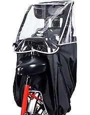MICOE 自転車レインカバー チャイルドシートレインカバー 子供乗せ用 後ろ 撥水加工 収納バッグ付