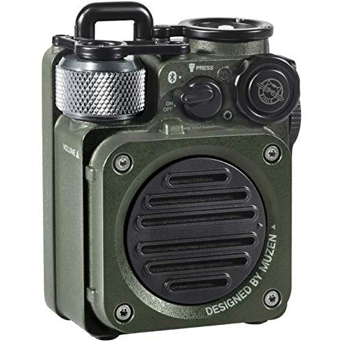 Portabler Lautsprecher MUZEN WILD Mini Lautsprecher Bluetooth Draussen Wasserdichter mit Taschenlampe Bluetooth 5.0 Multifunktion Outdoor Sport Audio mit Taschenlampe