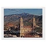 Cathedral of Jaen, Spain Travel Postcard Pintura de diamante, arte de diamante, kit de dibujo de diamante para adultos y niños, taladro de extracción, imágenes de cristal, decoración de la pared del h