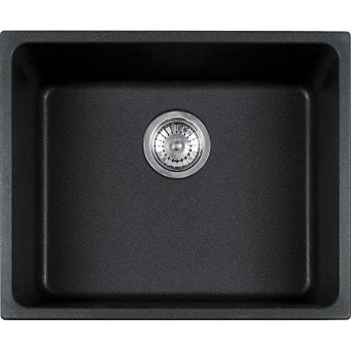 Franke KBG 110-50 - Fregadero (Negro, 1 senos, 500 x 400 mm, 20 cm, 540 mm, 440 mm)