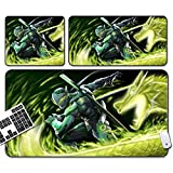 GEMORE Gaming Mouse Pad, Overwatch Mouse Pad, Genji Mouse Pad-Functional Non-Slip Rubber Base with Stitched Edges (Size : 75x40x0.3CM)