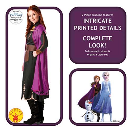 Rubie's Disney Frozen 2 Costume Anna Travel, Multicolore, M, 300286-M