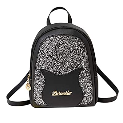 Amazon - Save 80%: Cute Sequin Lady Shoulders Small Backpack Cat Purse Mobile Phone Messenger…