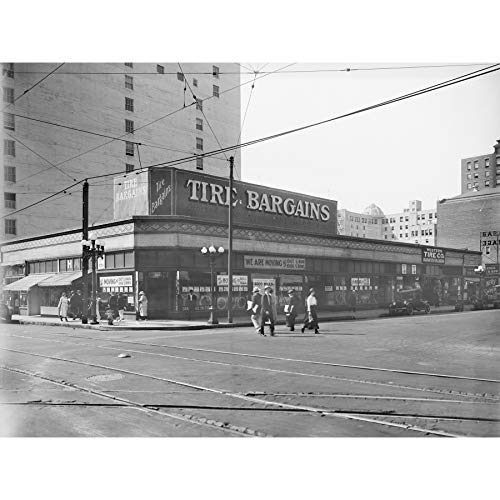 Western Tire Store 6th Street Los Angeles 1920 Large Wall Art Poster Print Thick Paper 18X24 Inch Oeste Calle Pared Impresión del Cartel