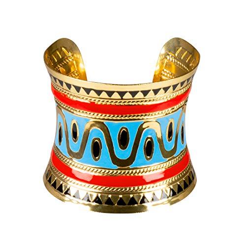 Elegantes ägyptisches Armband Nofretete / Antike Armspange Göttin / EIN Blickfang zu Fasching & Mottoparty