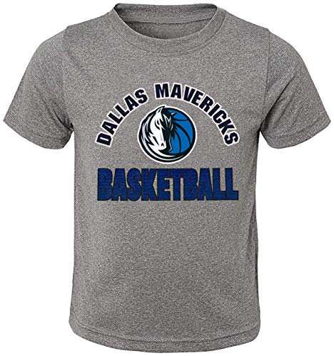 Outerstuff NBA Toddler Gray Primary Logo Basketball Short Sleeve T-Shirt (Dallas Mavericks Gray, 3T)