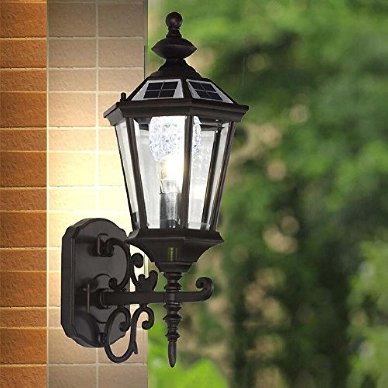 Solarlicht im Freien, wasserdichte Wand-im Freienlichter, Landhaus-Gemeinschaftsgarten-klassische Beleuchtung energiesparende Umweltschutz-Wand-Lampe YDYG (Farbe   Non-solar)