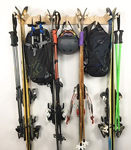 Pro Board Racks The Apres Vertical Ski Storage Rack (Holds 4 Sets of Skis)