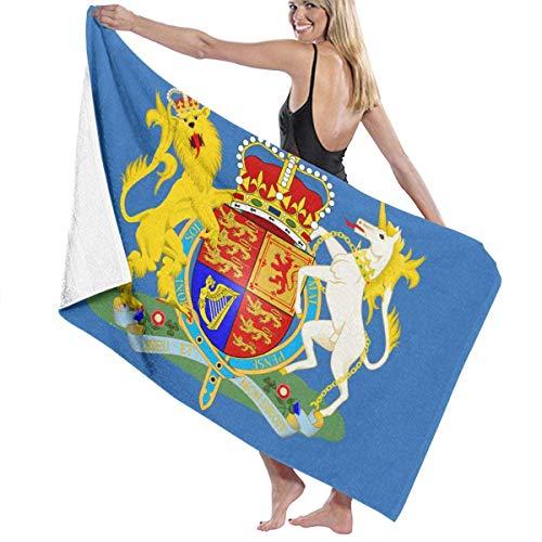If Not Inglaterra Lion Unicron Badge Flag Toalla de Playa Toalla de baño Oversize Soft para Uso Diario Deportes al Aire Libre Viajes Nadar