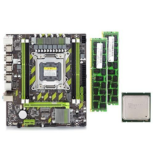 Kamenda X79G - Juego de placa base con CPU LGA2011 Combos Xeon E5 2640, 2 unidades x 8 GB = 16 GB de memoria DDR3 RAM 1600 MHz PC3 12800R