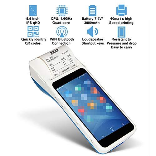 TANCEQI Thermodrucker Bondrucker Wireless Drucker Erhalten Bluetooth, Mobile Thermodrucker Bluetooth Drucker Für Mikro-USB-Schnittstelle, Bluetooth, SIM-Halterung, TF-Erweiterung Für Kleinunternehmen