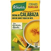 Knorr - Crema Calabaza con un Suave Toque de Nata sin Conservantes ni Colorantes Artificiales, 1L