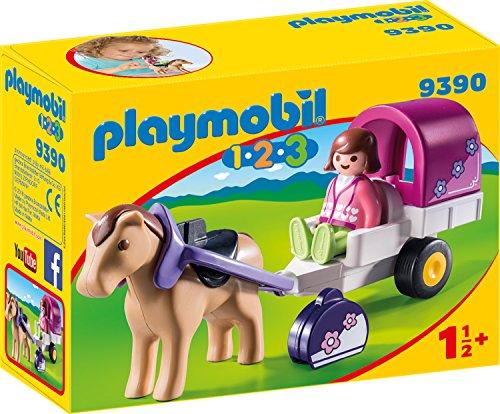 PLAYMOBIL- 1.2.3 Carruaje de Caballos Juguete, Multicolor (geobra Brandstätter 9390)