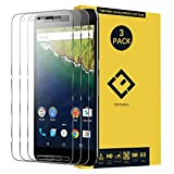 Screen Protector Replacement for Google Nexus 6P, (3 Pack) Ultra-Thin Anti-Fingerprint Anti-Scratch Clear Tempered Glass Protective Film Compatible with Google Huawei Nexus 6P H1511 H1512 5.7'