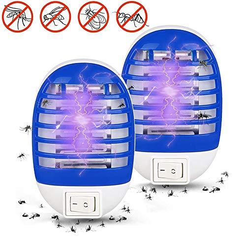 MTSBW Insecticida electrónico, lámpara LED para Mosquitos, radiación silenciosa para Matar Moscas, Repelente de Mosquitos Ultravioleta, Adecuado para Uso en Interiores, Camping