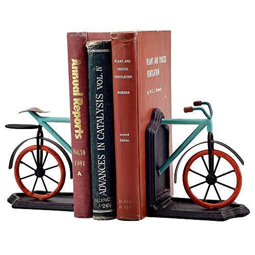 WEHOLY Bücherenden Hochleistungs Buchstützen Harz Fahrrad Desktop Bücherständer Student Buchstütze Büro Buch von Buchhalter Dekoration Kinder, Fahrrad