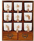 Dpliu-JJ Tanque Condimento Tarro Especias Caja de la Cocina condimento/cerámica condimento contenedor de Almacenamiento con palets botellero Multi-Sal Azúcar Condimento