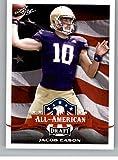 2020 Leaf Draft Football #72 Jacob Eason Pre-Rookie Trading Card Washington Huskies. rookie card picture