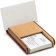 fang zhou Kvalitet massivt trä skrivbord visitkortshållare, högkvalitativt trä visitkort förvaringsbox, skrivbord visitkor...