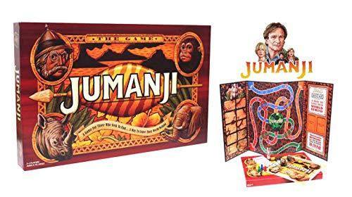 JUMANJI Das Brettspiel | EIN Spiel für diejenigen, die hinter Sich her sind ... EIN Weg, ihre Welt hinter Sich zu Lassen | Großes Familien Brettspiel |