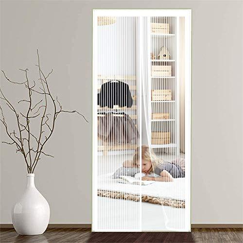 ERPENG Fliegennetz Vorhang 80x250cm Magnetverschluss faltbar Fliegenschutzvorhang Vorhang einfach zu montieren Ohne Bohren für Die Balkontür, Kellertür Und Terrassentür,...