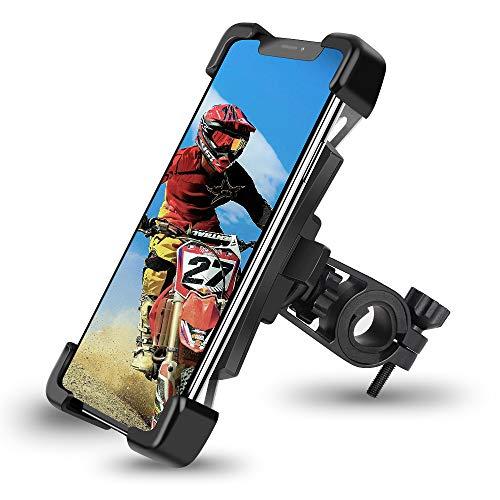 HASAGEI Soporte Movil Bici para 4.5' -7.2' Smartphones Anti Vibración Soporte Movil para Moto y Bicicleta de Montaña 360° Rotación para Manillar Universal (para el Manillar)