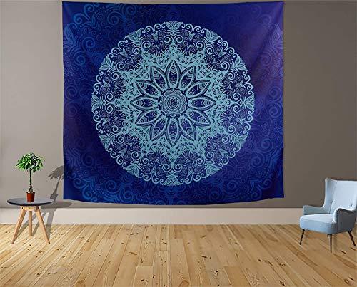 Tapiz blanco y negro Luna Estética Misterio Chakra Meditación Planeta Tapiz de pared Sala de estar Decoración Tapiz a14 150x200cm