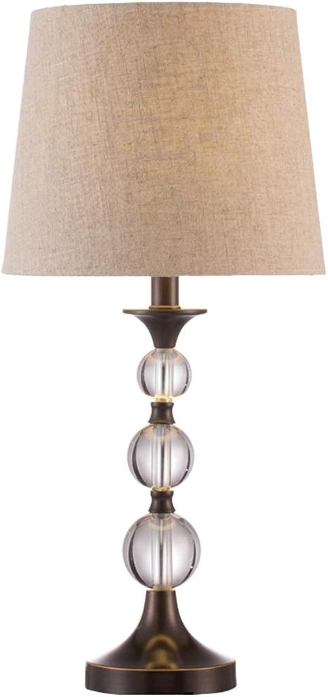 Europische Kristall-Tischlampe - Schlafzimmer-Nachttischlampe, Wohnzimmer-moderne minimalistische dekorative Tischlampe-kreative Lampe