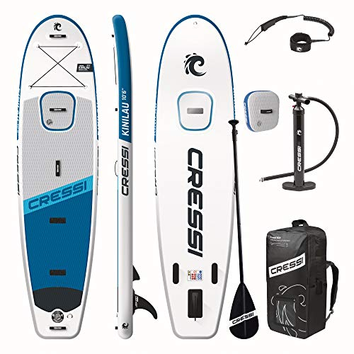 Cressi Kinilau 2.0 Edition 10'6' Stand up Paddle Sup Gonflable Unisex-Adult, Blanc/Bleu Navy, Unique